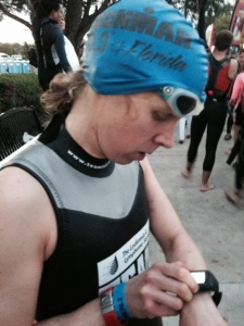 Pre-Swim focus...or playing with my Garmin!